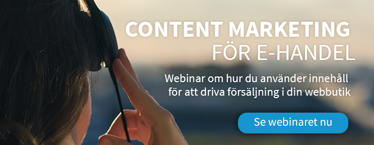 Content marketing för e-handel: webinar